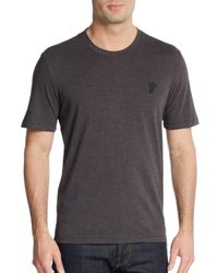 Versace | Gray Crew Tee for Men | Lyst