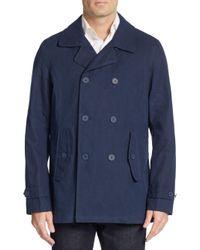 Ben Sherman | Blue Double-breasted Cotton-blend Jacket for Men | Lyst