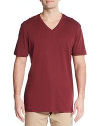 Michael Kors | Red Liquid Interlock Jersey V-neck Tee for Men | Lyst