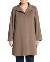 Cinzia Rocca | Brown A-line Coat | Lyst