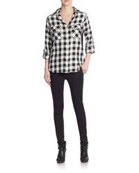 Sam Edelman | Black Split Sequined-back Shirt | Lyst