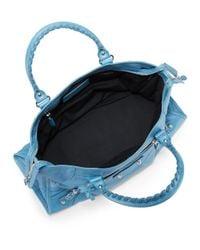 Balenciaga Blue Leather Giant Part Time Bag