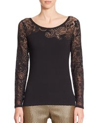 Etro - Black Tattoo Illusion Top - Lyst
