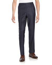 BOSS Gray Sharp1 Us1 Virgin Wool Trousers for men