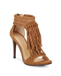 Chinese Laundry | Natural Santa Fe Suede Fringe Sandals | Lyst