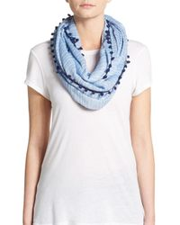 Calvin Klein - Blue Large Infinity Scarf - Lyst