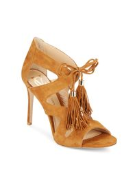 Vince Camuto | Natural Manders Suede Lace-up Pumps | Lyst