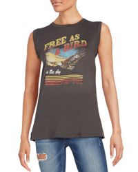 Project Social T - Black Free As A Bird Graphic Tank Top - Lyst