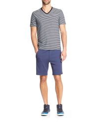 Saks Fifth Avenue | Blue Jersey Shorts for Men | Lyst