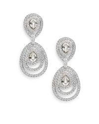 Swarovski | Metallic Tizian Crystal Drop Earrings | Lyst