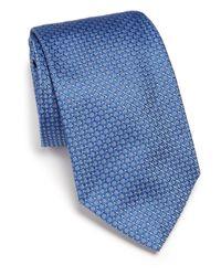 Ike Behar - Blue Neat Textured Silk Tie for Men - Lyst
