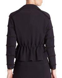 Akris Punto - Black Mini-fringe Open-front Jacket - Lyst