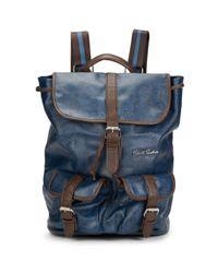 Robert Graham Blue Paisley-print Backpack