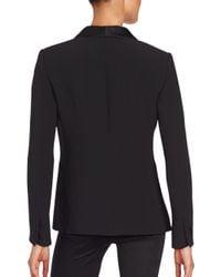 Giorgio Armani Black Solid Silk Jacket