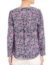 Joie Multicolor Zahira Floral-print Silk Blouse