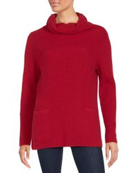 Vince Red Ribbed Cashmere Sweater