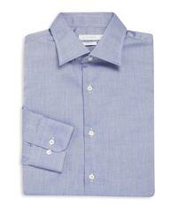 J.Lindeberg | Blue Long Sleeve Cotton Dress Shirt for Men | Lyst