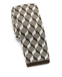 Saks Fifth Avenue - Brown Anonymous Ism Graphic Print Knit Cotton Tie for Men - Lyst