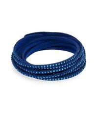 Swarovski Blue Slake Crystal-studded Wrap Bracelet