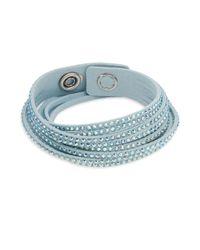 Swarovski - Blue Slake Crystal Wrap Bracelet - Lyst