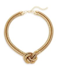 Kenneth Jay Lane | Metallic Snake Knotted Necklace | Lyst