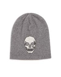 360cashmere   Gray Birdman Skull Cashmere Beanie   Lyst