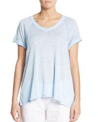 Calvin Klein | Blue Icy Wash Seamed Tee | Lyst