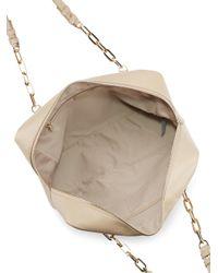 Versace Natural Leather Shoulder Bag