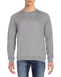 J.Lindeberg - Gray Quilted Cotton Jersey Sweater for Men - Lyst