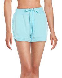 Nanette Lepore | Blue Laser-cut Shorts | Lyst