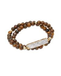 Elise M | Brown Nola Double Wrap Bracelet | Lyst