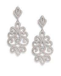 Saks Fifth Avenue | Metallic Openwork Drop Earrings | Lyst