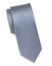 Saks Fifth Avenue - Blue Textured Solid Silk Tie for Men - Lyst