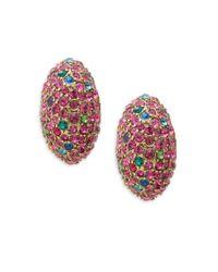 Heidi Daus - Red Time To Sparkle Crystal Stud Earrings - Lyst