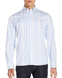 Victorinox | Blue Tailored-fit Sellen Striped Sportshirt for Men | Lyst