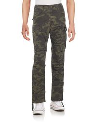 G-Star RAW | Green Rovic Camo-print Cargo Pants for Men | Lyst