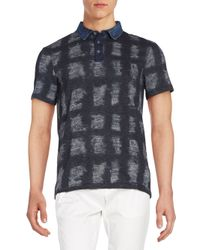 Calvin Klein Jeans | Black Printed Cotton Polo for Men | Lyst