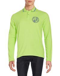Versace Jeans   Green Logo Polo Shirt for Men   Lyst