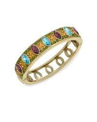 Heidi Daus | Metallic Double Time Swarovski Crystal & Multicolored Rhinestone Bangle Bracelet | Lyst