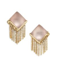 Alexis Bittar | Metallic Lucite & Crystal Pyramid Spear Fringe Clip-on Earrings | Lyst