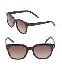 Halston Heritage | Brown 53mm Modified Wayfarer Sunglasses | Lyst