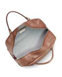 Brunello Cucinelli - Brown Leather Weekender for Men - Lyst