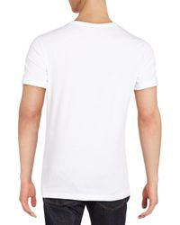 Versace Jeans - White Graphic Tee for Men - Lyst