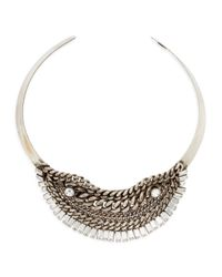 DANNIJO | Metallic Serafina Pearly Crystal Chain Necklace | Lyst