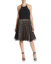 Alice + Olivia | Black Earla Embellished Flare Skirt | Lyst