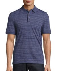 Michael Kors | Blue Space Dye Cotton Blend Polo for Men | Lyst