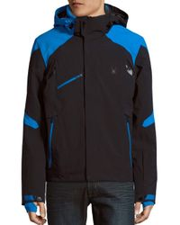 Spyder - Black Garmisch Hooded Jacket for Men - Lyst