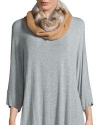 Badgley Mischka | Gray Faux Fur Honeycomb Collar | Lyst