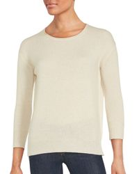 INHABIT | Natural Cashmere Long Sleeve Sweater | Lyst