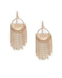 Catherine Malandrino - Metallic Chain Linked Tassel Drop Earrings - Lyst